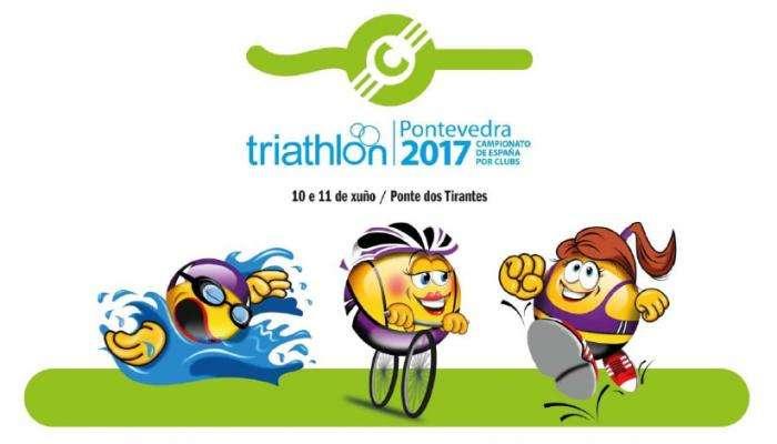 Campeonato de España de Triatlón de clubs 2017 en Pontevedra